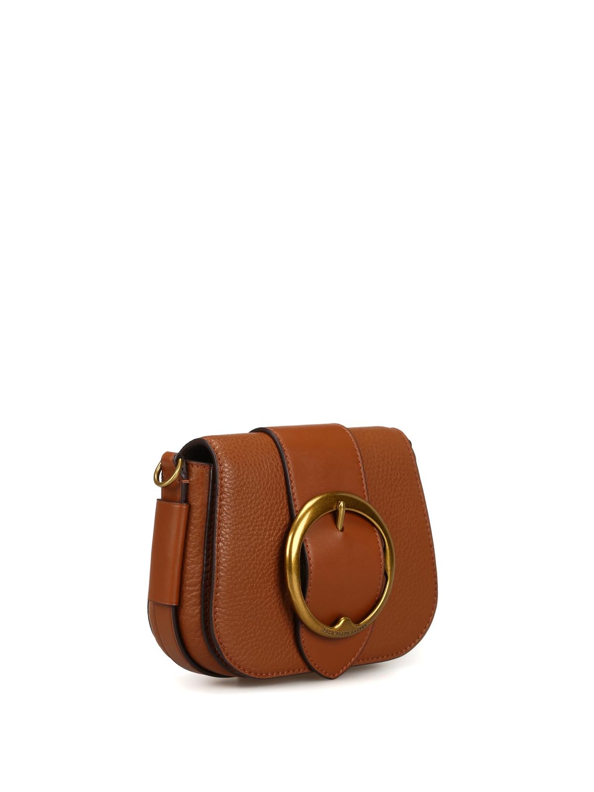 dd123cd75f POLO RALPH LAUREN  shoulder bags online - Lennox Mini brown leather shoulder  bag
