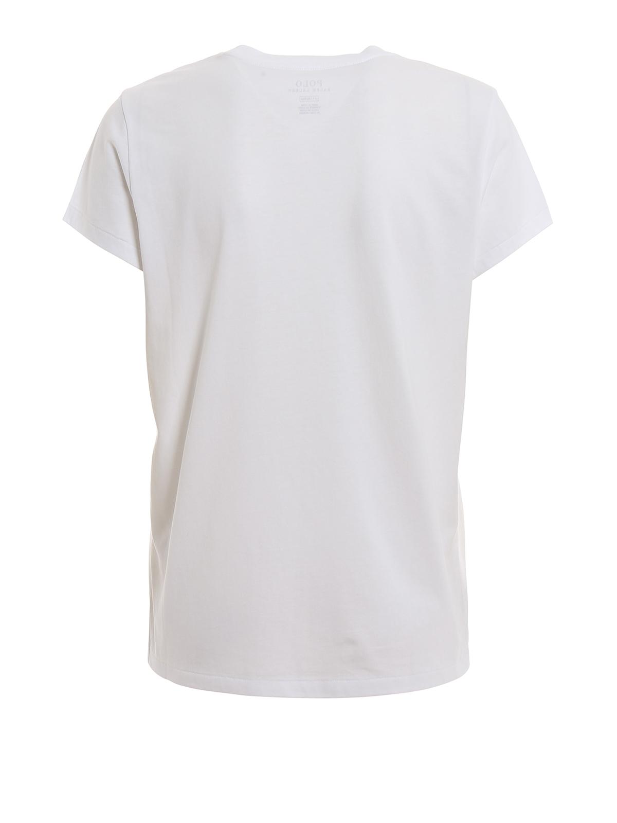 reputable site 39610 254bb Polo Ralph Lauren - T-Shirt - Weiß - T-shirts - 211744519001 ...
