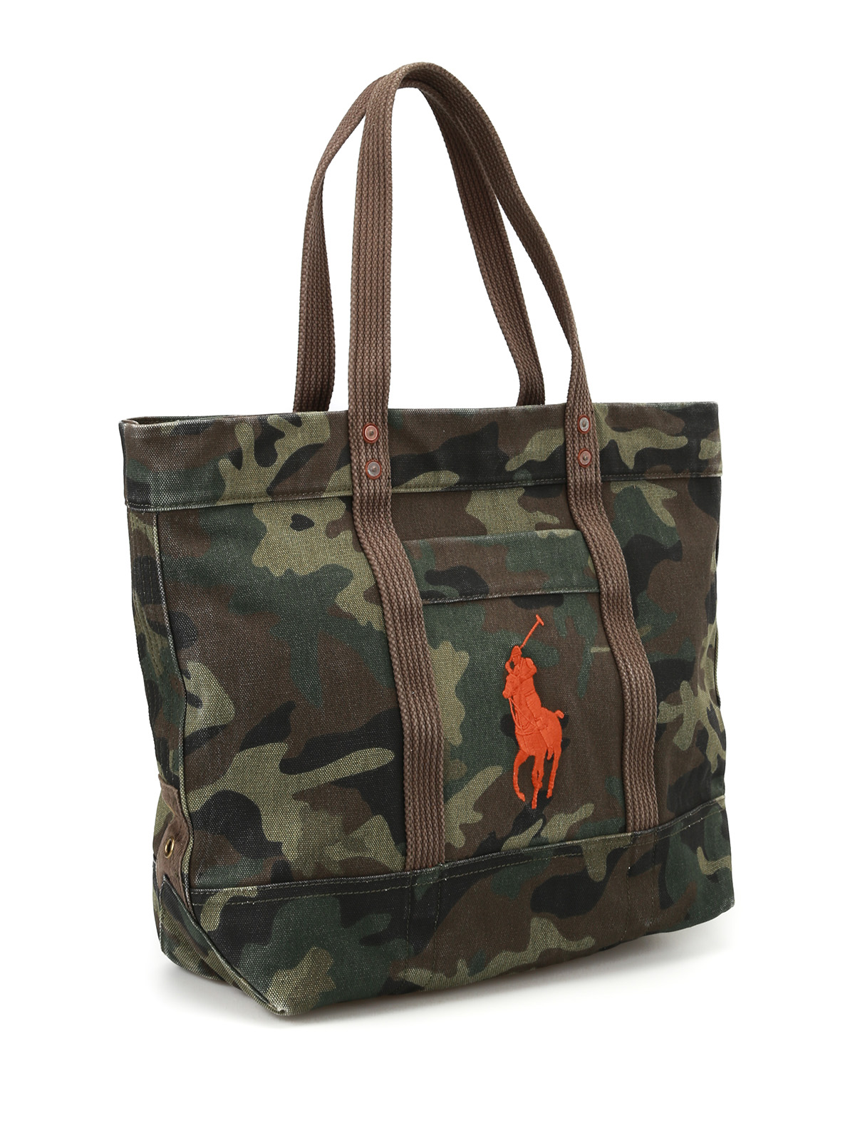 POLO RALPH LAUREN: totes bags online - Orange logo camu tote