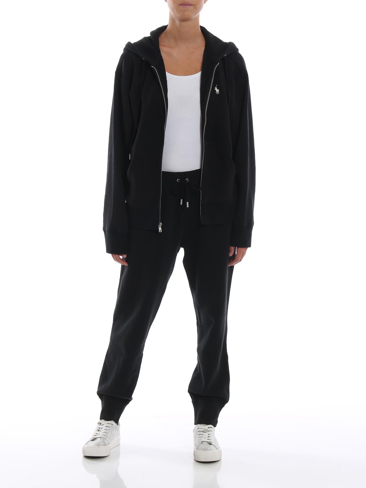 8af4930ea83 POLO RALPH LAUREN  tracksuit bottoms online - Black cotton fleece tracksuit  bottoms