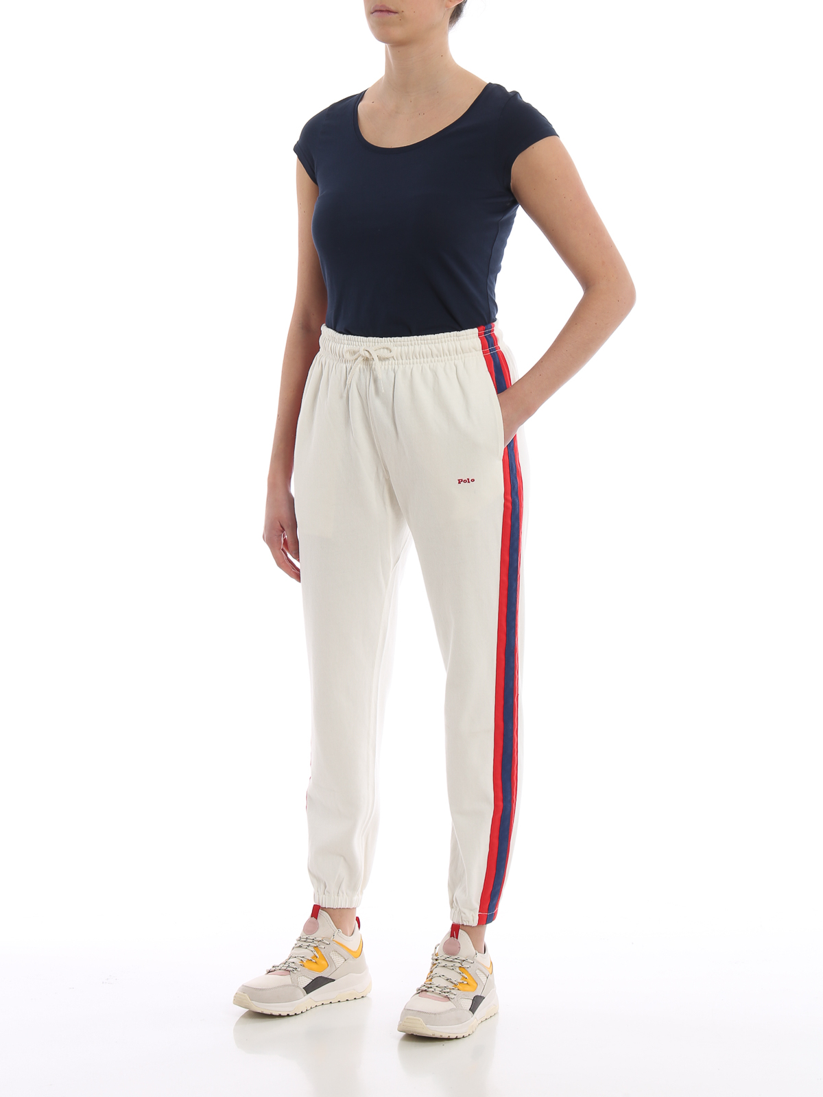 info for 7ddd1 ab99c Polo Ralph Lauren - Side bands white cotton tracksuit ...