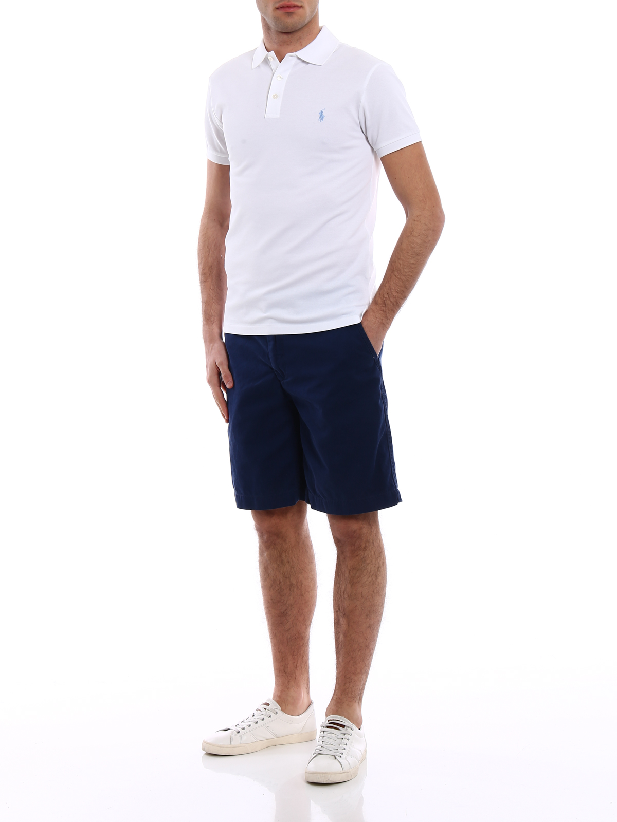 Polo Ralph Lauren Logo Detailed Cotton Short Pants Trousers