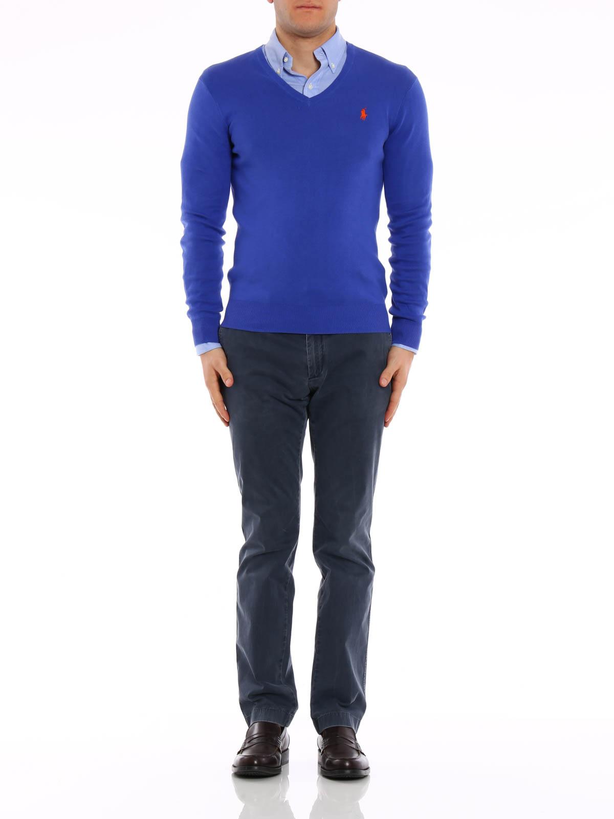 9a53010a3 POLO RALPH LAUREN  v necks online - Cotton slim fit pullover