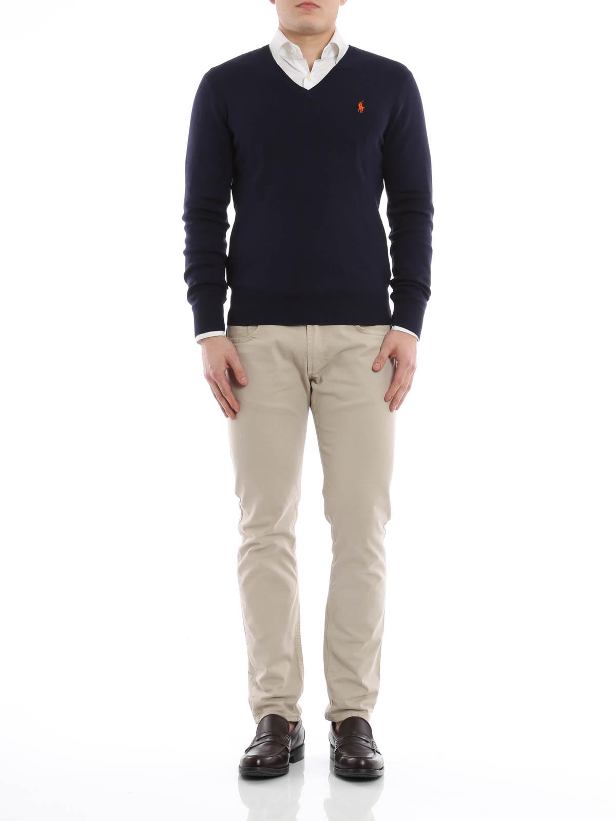 Homme A40 Pour Polo En V Shirt Col Noir T Ralph Lauren À eWQBdCrxo