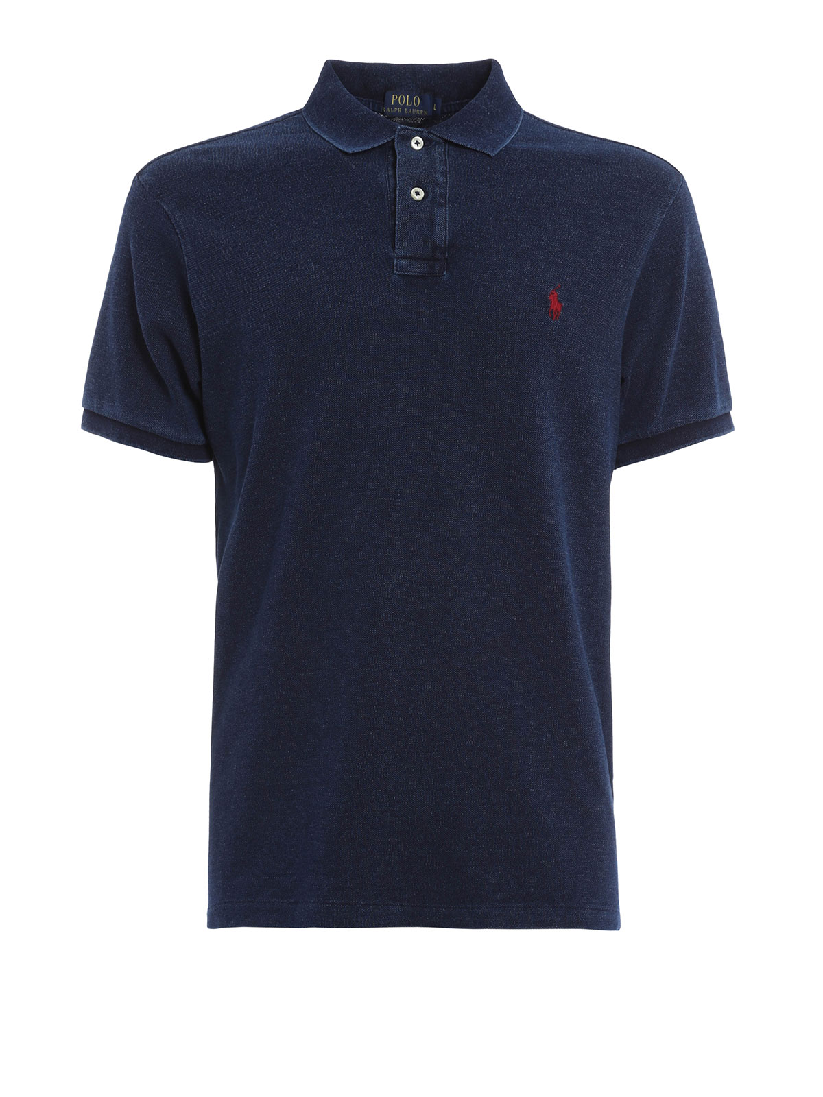 Cotton polo with logo by polo ralph lauren polo shirts for Ralph lauren logo shirt