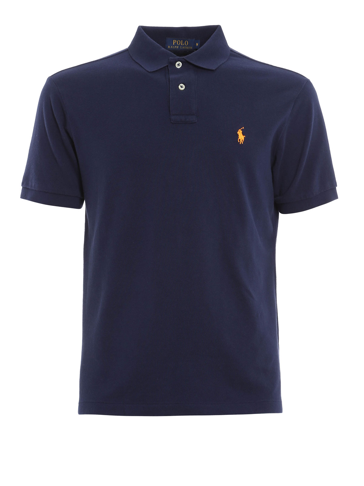 Cotton polo with logo by polo ralph lauren polo shirts for Cotton polo shirts with logo