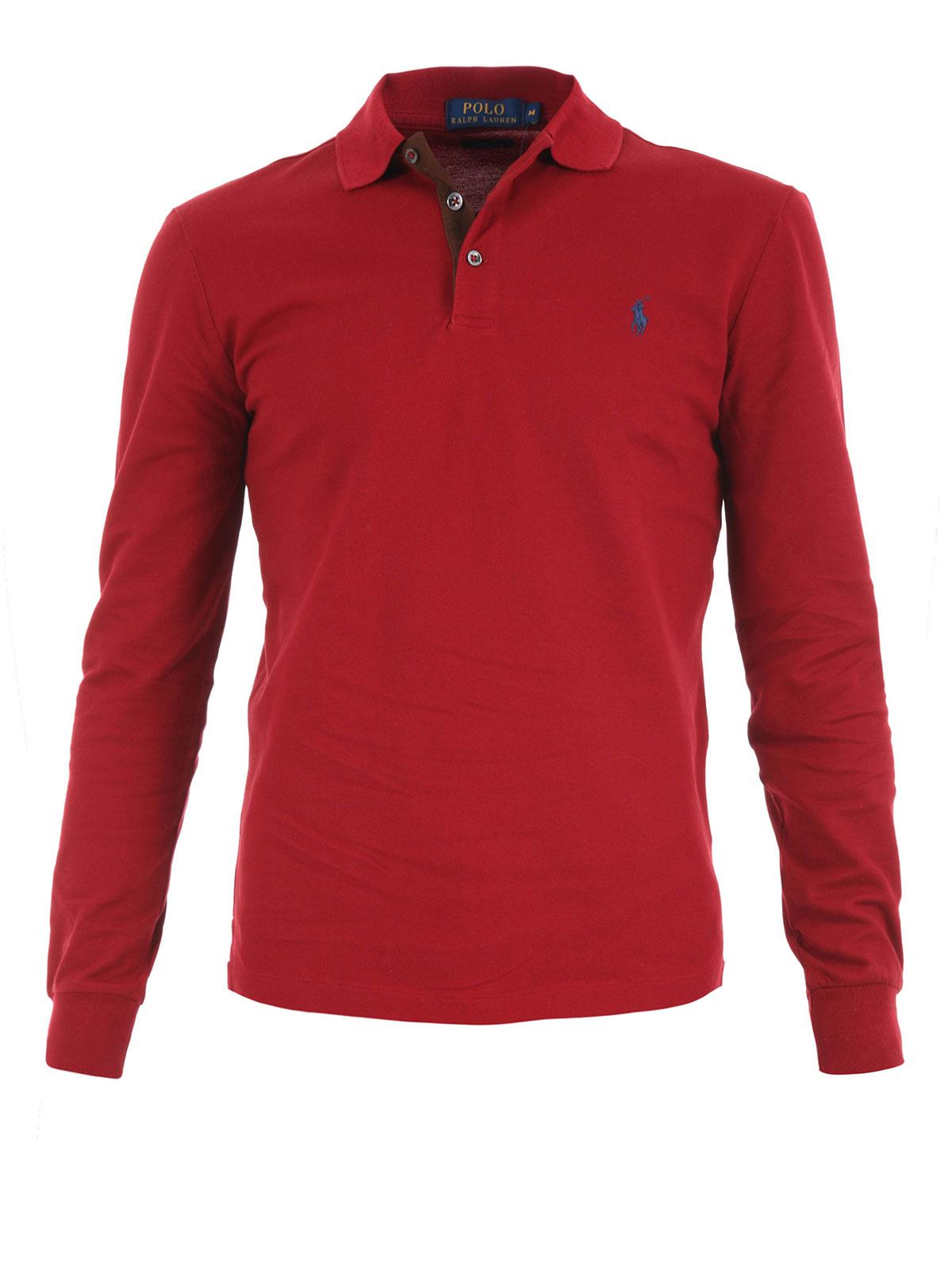 Polo Rouge A12kfd20 Pour Polos Lauren Brun Ralph Homme A6625 sQdhrtCx