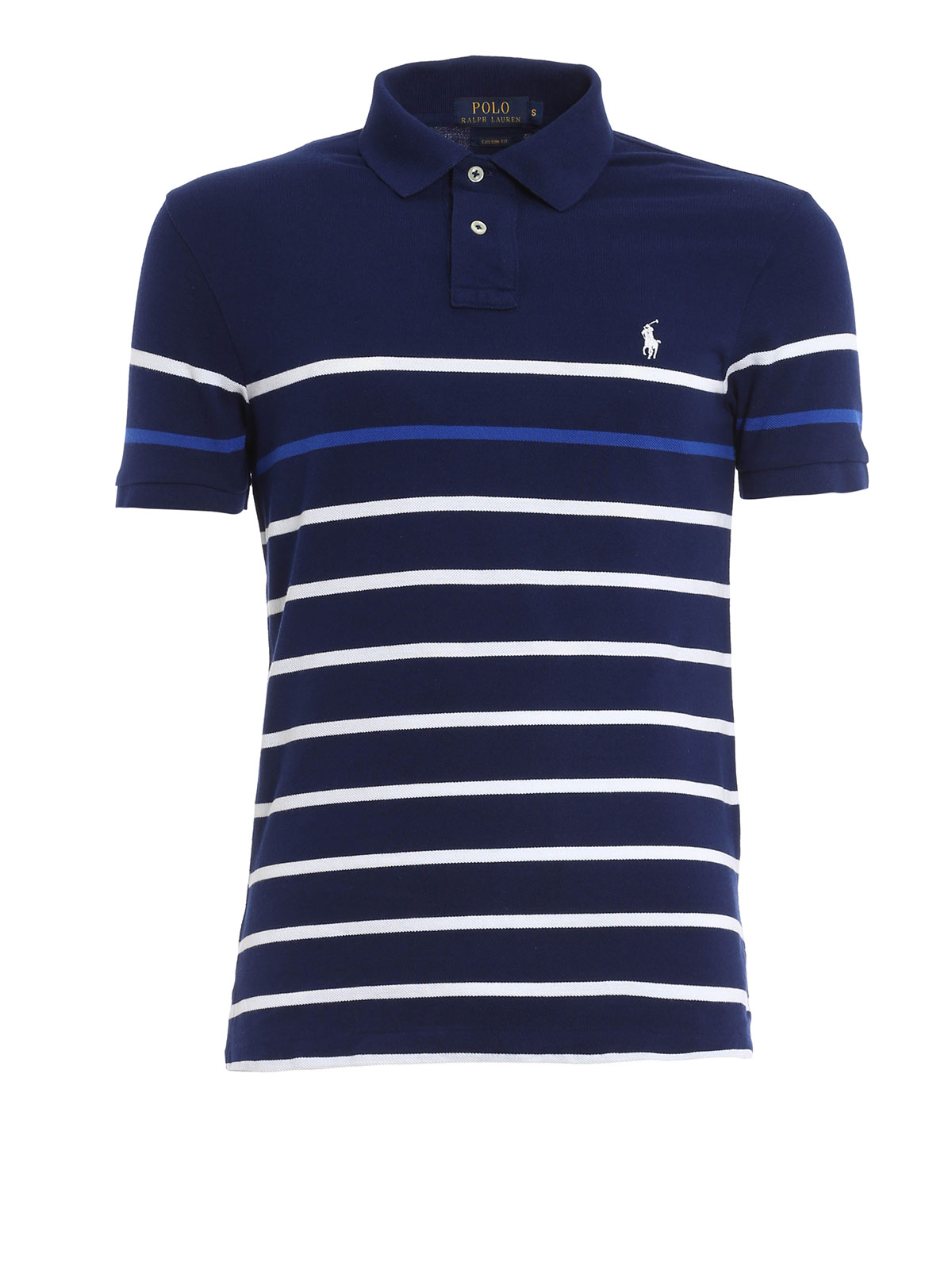 striped cotton pique polo shirt by polo ralph lauren. Black Bedroom Furniture Sets. Home Design Ideas