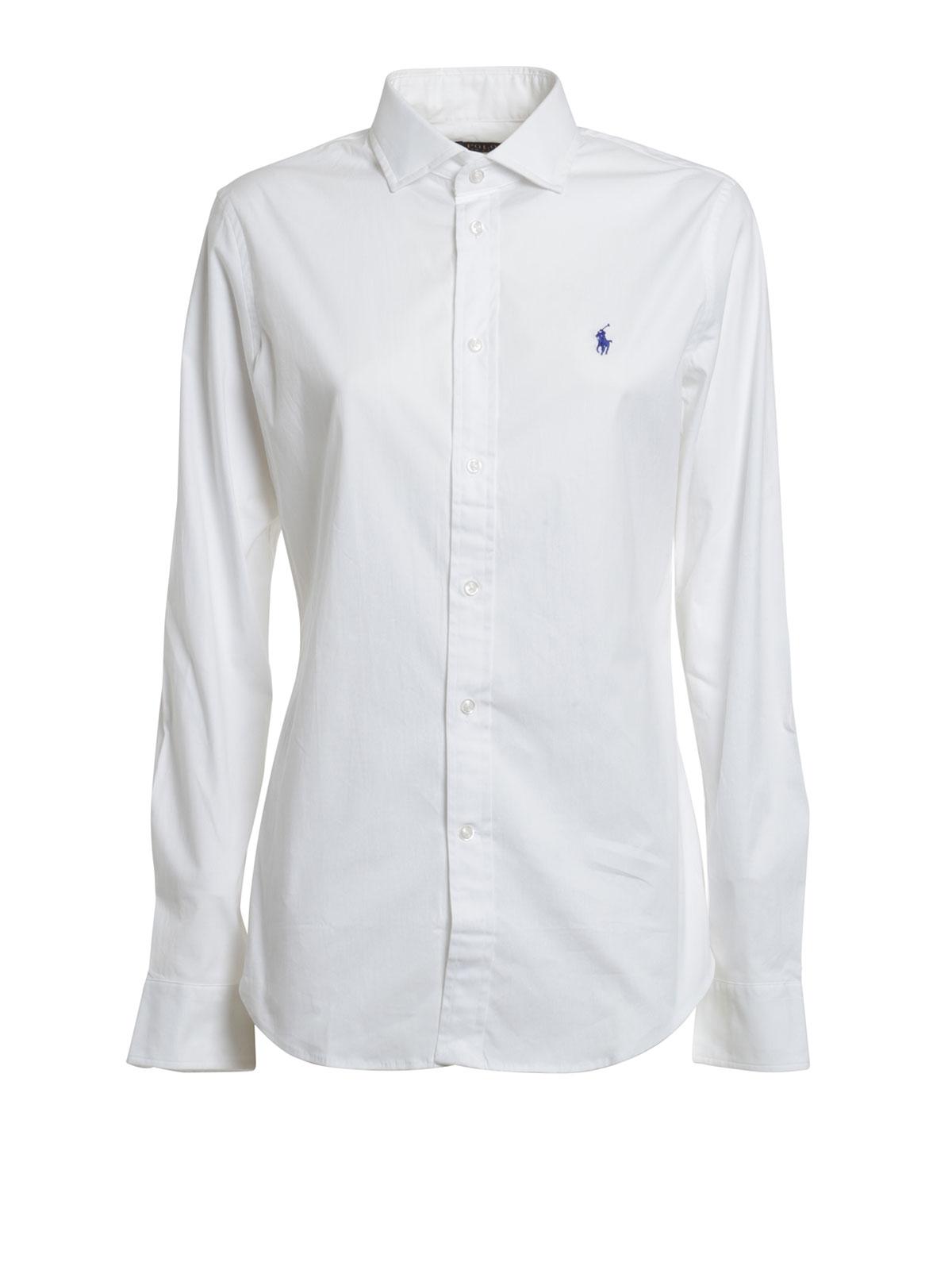 Lauren Chemises Chemise V33 Blanc Femme Ig270 Polo Ralph Pour W9DH2IYE