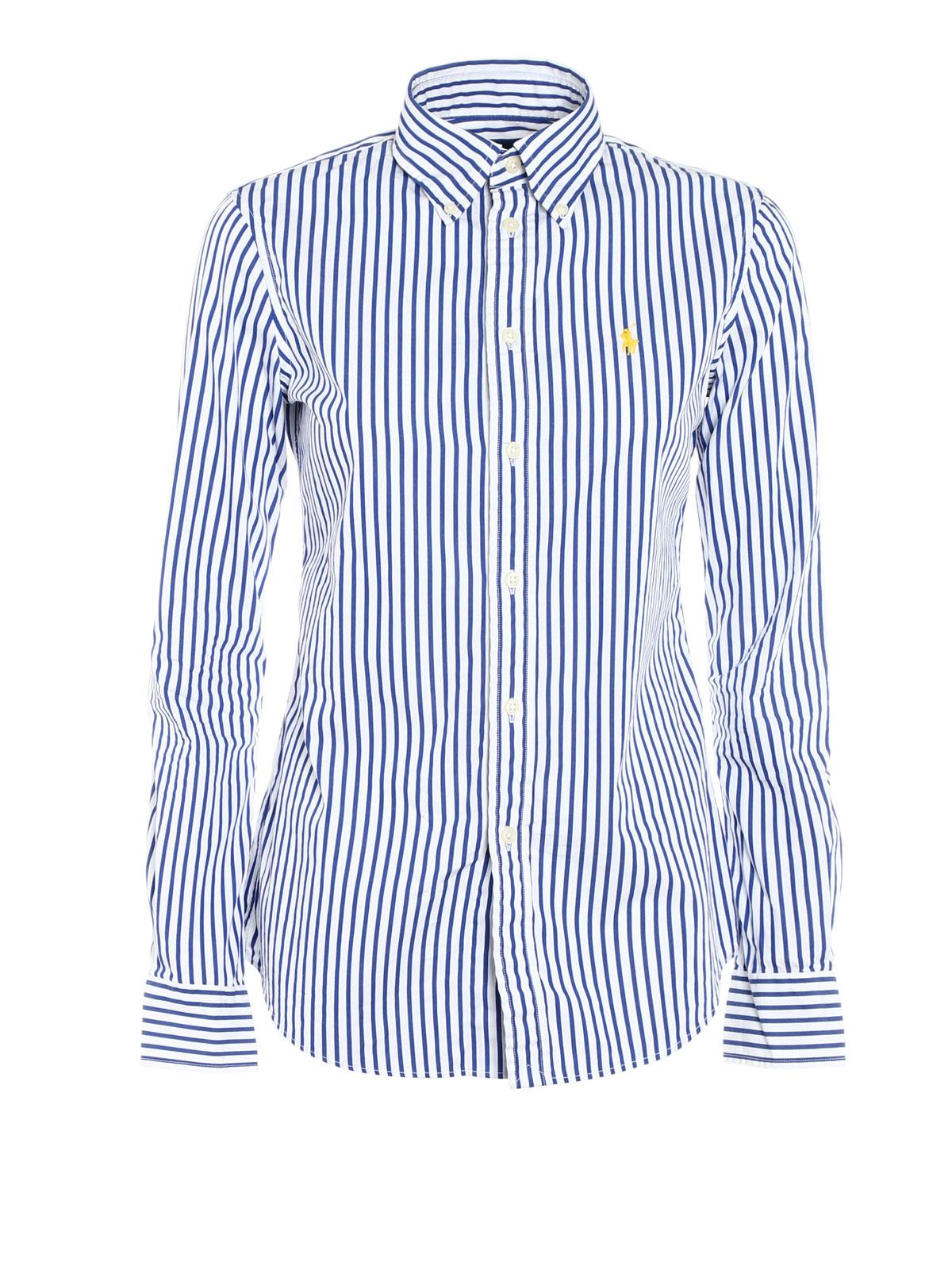 Polo Ralph Lauren - Chemise Bleu Pour Femme - Chemises - V33 IE214 ... 23d56258dbf0
