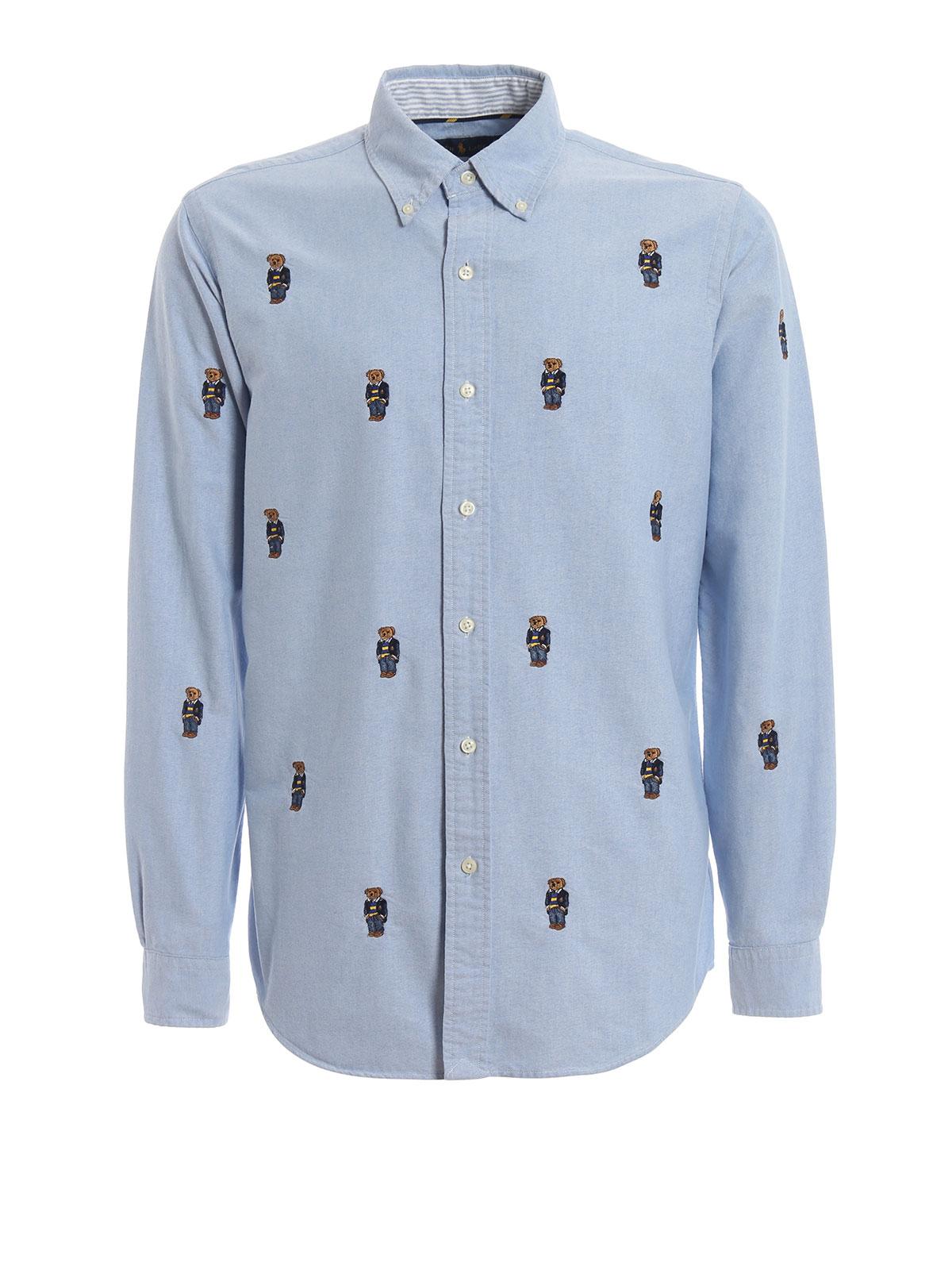 4dfa73ce POLO RALPH LAUREN: shirts - Yale Preppy Bear b/d Oxford cotton shirt