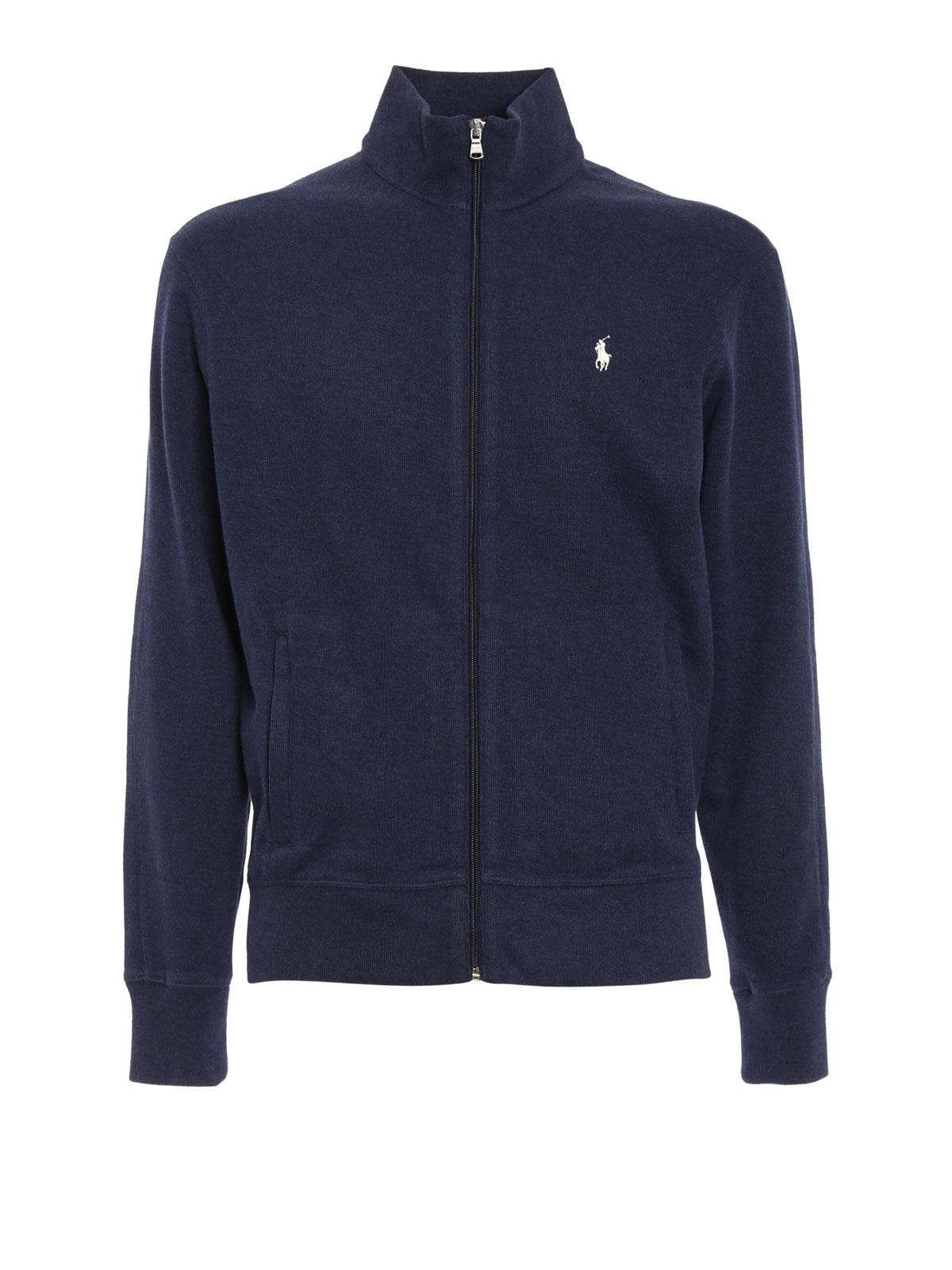Cotton Ralph Fleece Polo Sweatshirtsamp; Jacket Pulls Lauren R35qScL4Aj