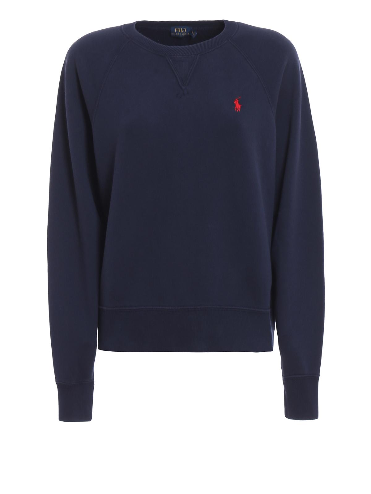 tillgängliga försäljning av skor innovativ design Polo Ralph Lauren - Crew neck sweatshirt with red logo ...