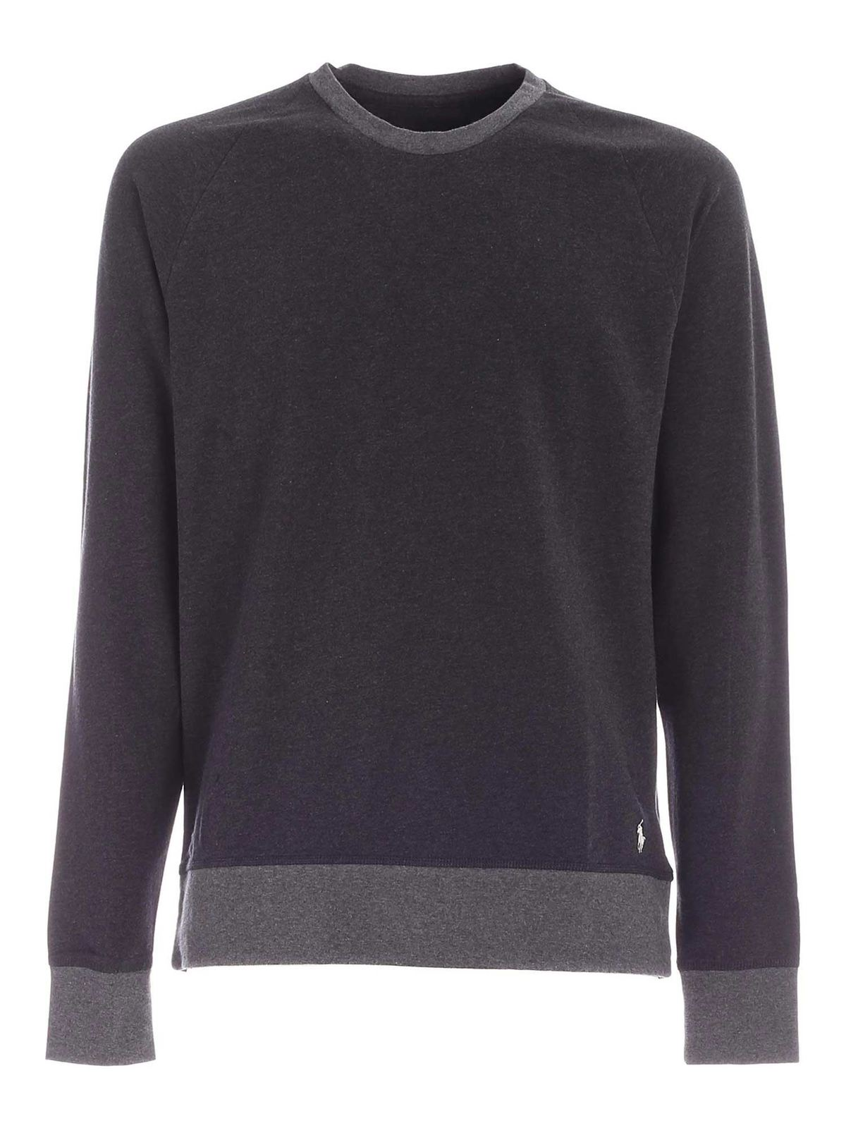 POLO RALPH LAUREN CREWNECK SWEATSHIRT IN GREY