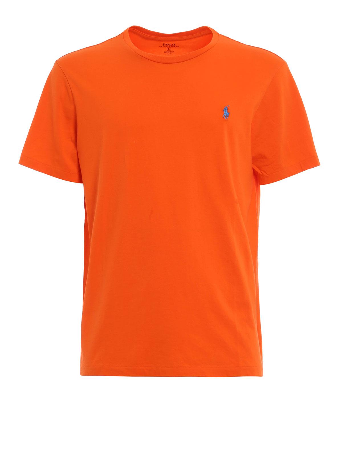 T shirt di cotone con logo polo ralph lauren t shirt ikrix for Ralph lauren logo shirt