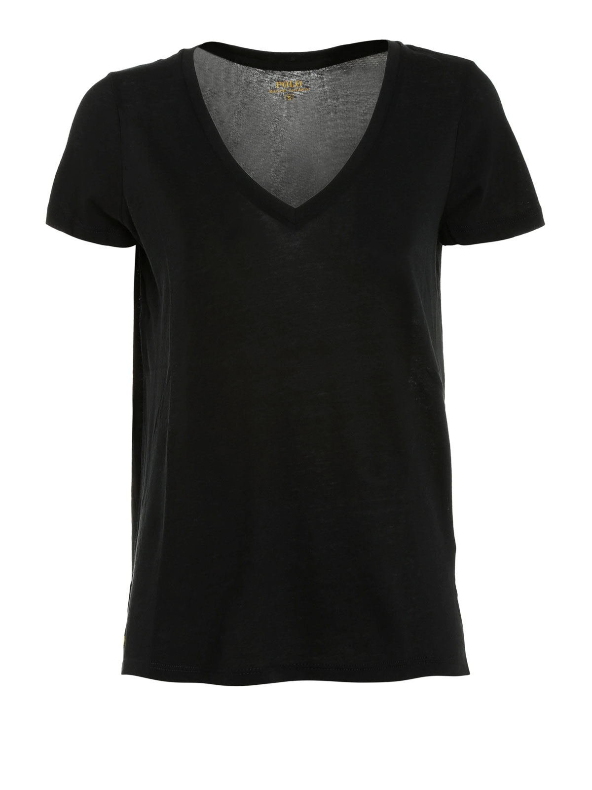 Embossed Logo V Neck T Shirt By Polo Ralph Lauren T