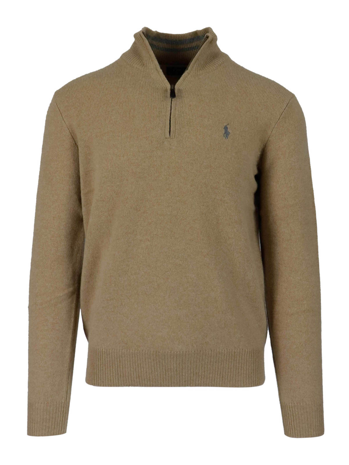 Polo Ralph Lauren ZIPPED MELANGE WOOL BLEND TURTLENECK