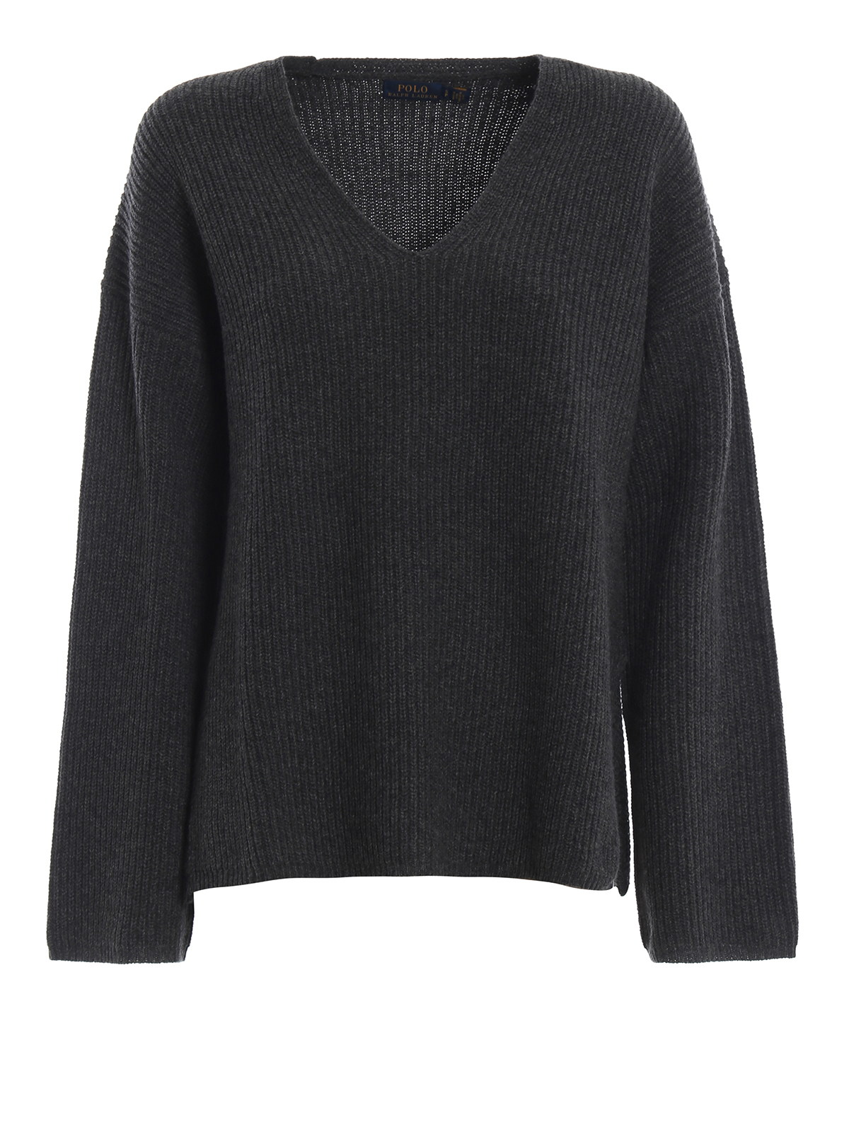 POLO RALPH LAUREN  v necks - Rib knitted merino and cashmere sweater 2f52a309abf2