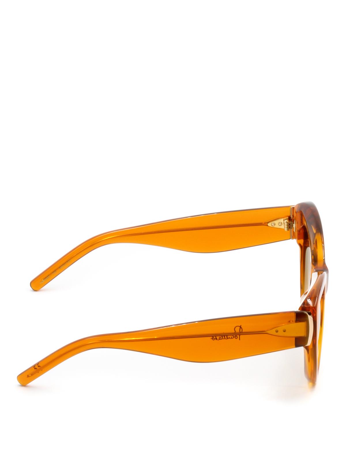 Pomellato - Orange frame cat-eye sunglasses - sunglasses - PM0043S5