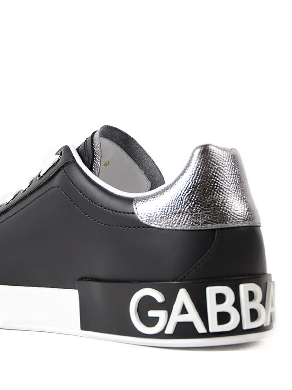Portofino black calfskin sneakers