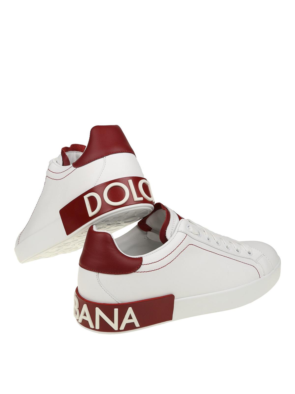 Portofino white and red nappa sneakers
