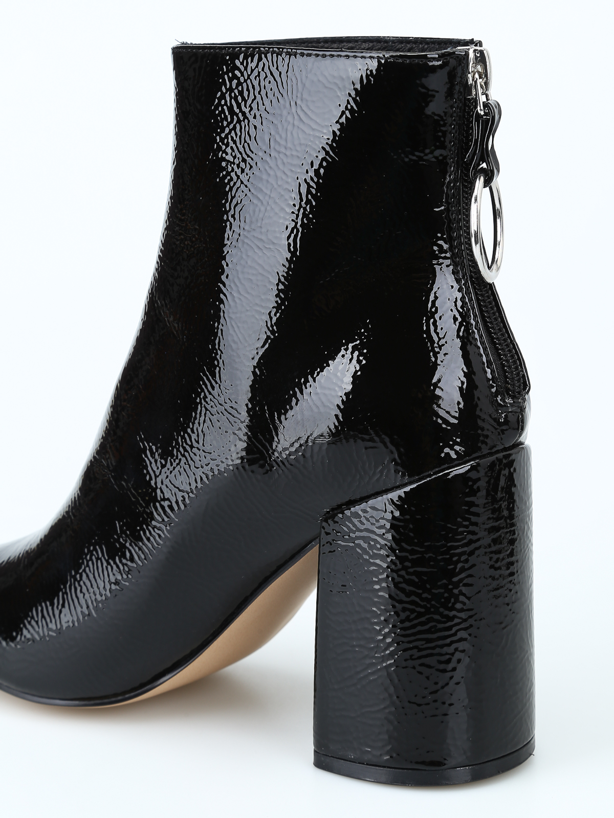 bee4a232874 Steve Madden - Posed black faux patent ankle boots - ankle boots ...