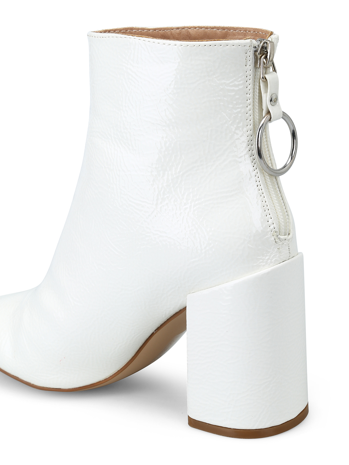9c22988da96 Steve Madden - Posed white faux patent ankle boots - ankle boots ...