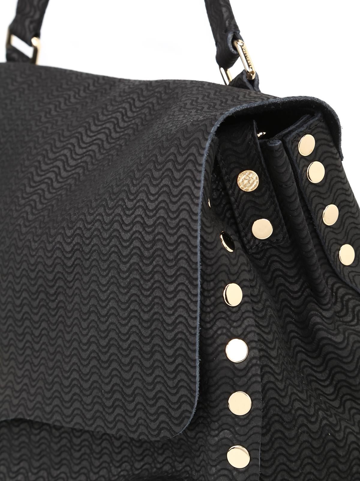 Zanellato Postina Arche medium black bag NQVVLqV