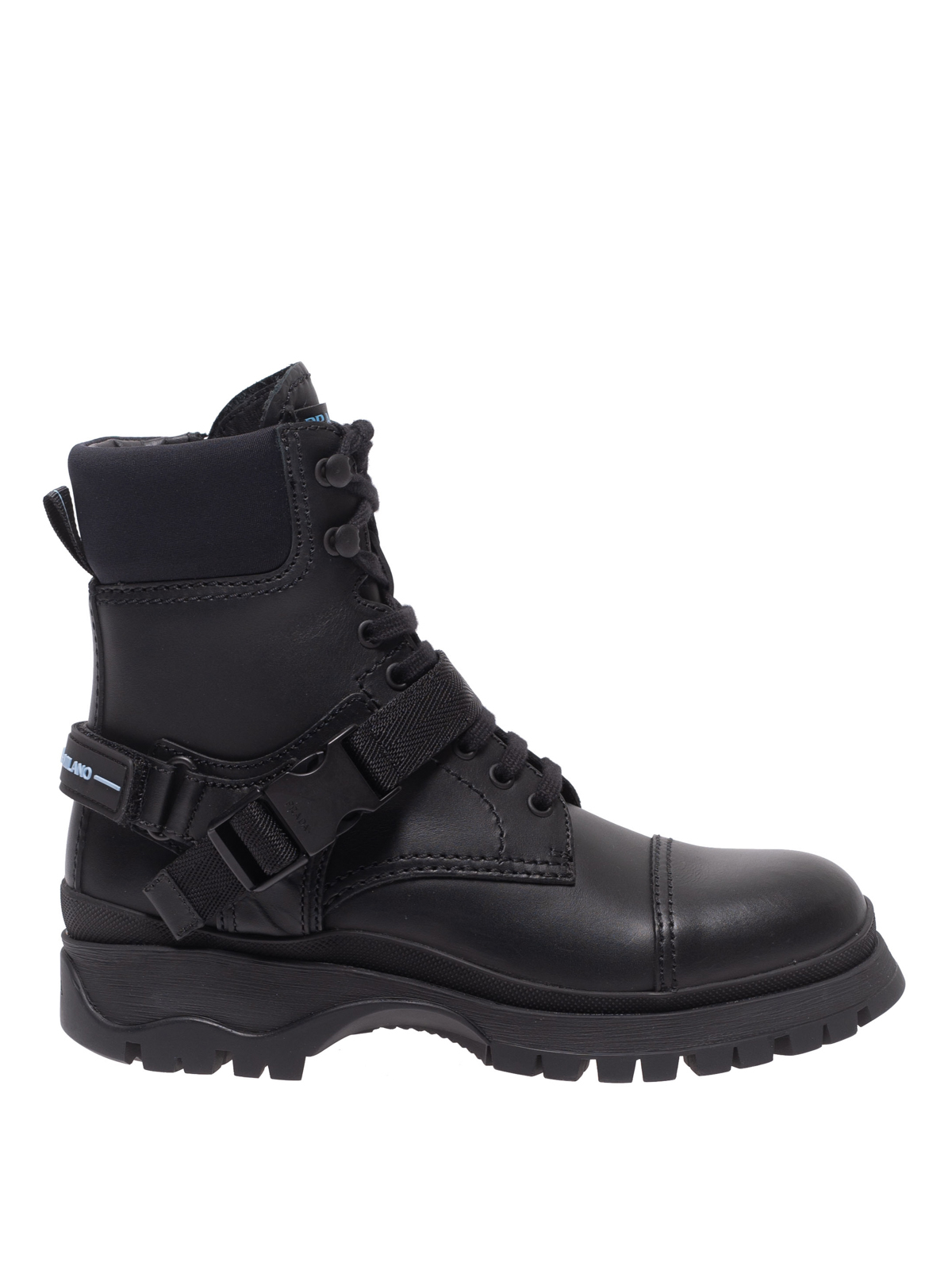 save up to 60% free delivery sale uk Prada - Buckle strap calf leather ankle boots - ankle boots ...