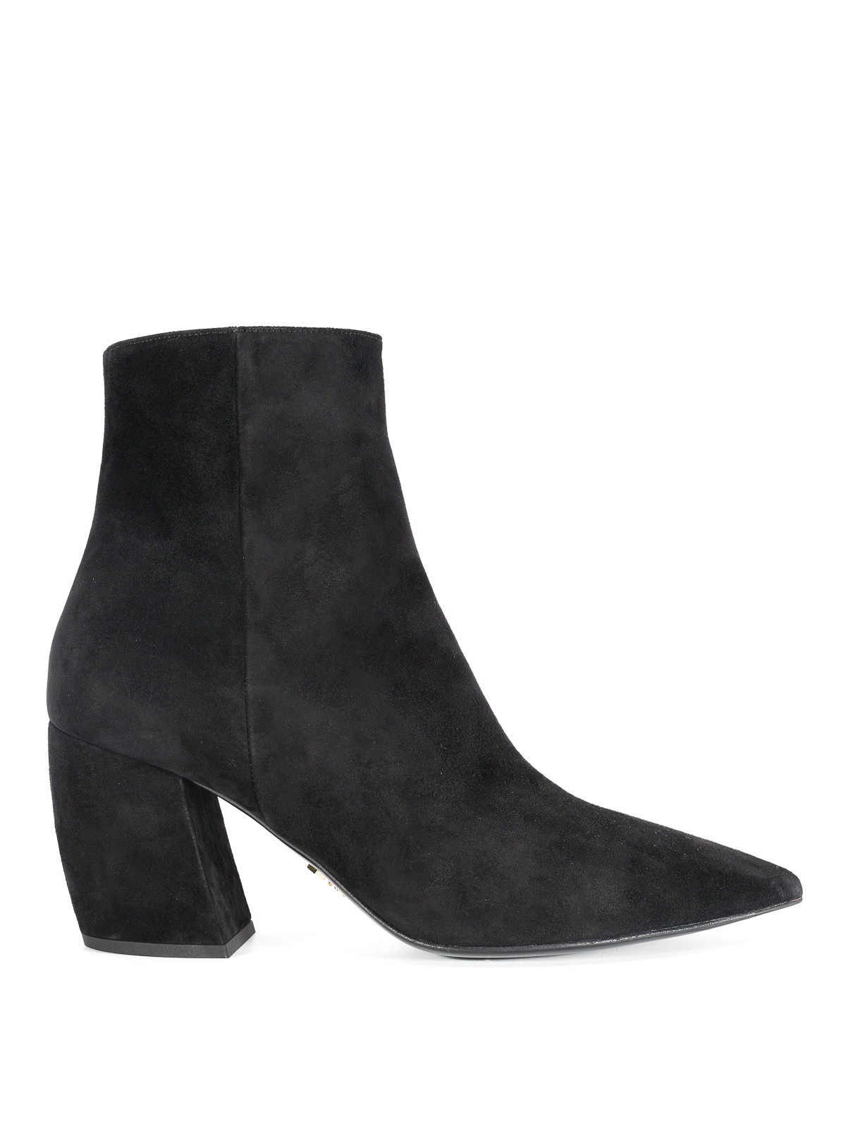 Prada - Suede tapered ankle boots
