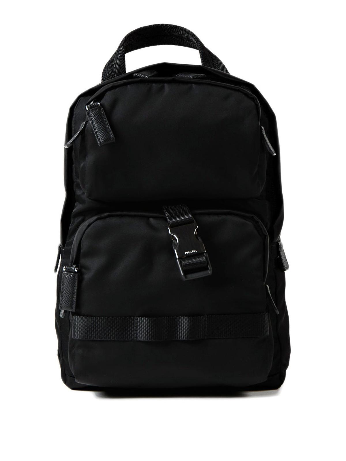 c43abb098bd3 Prada - Black nylon one shoulder backpack - backpacks - 2VZ013 973 002