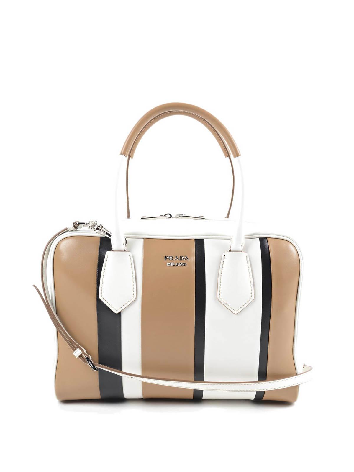 Leather bowling bag by Prada - bowling bags | iKRIX