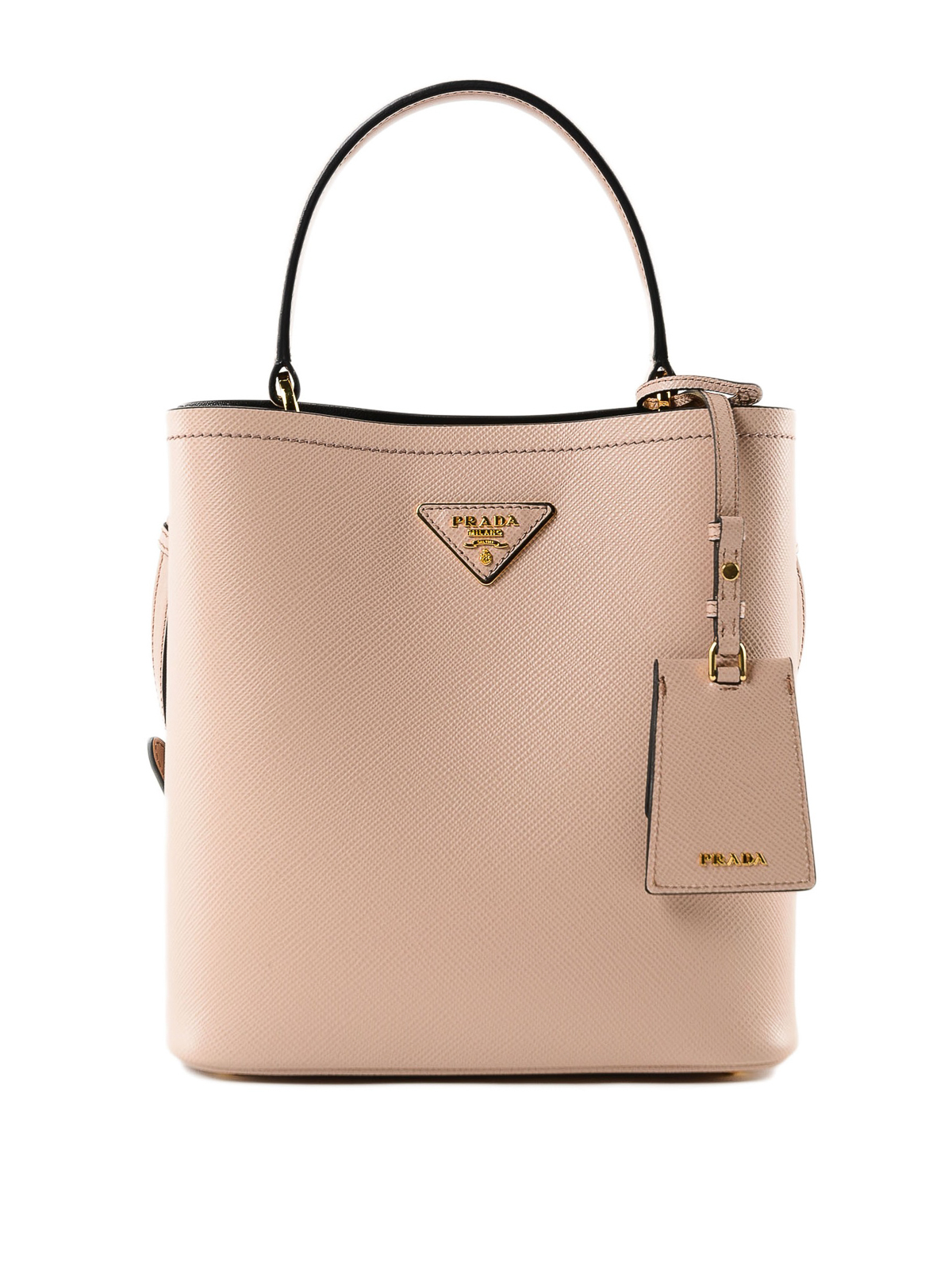 Prada - Saffiano leather double bucket bag - Bucket bags ... f1f3f13152ce5