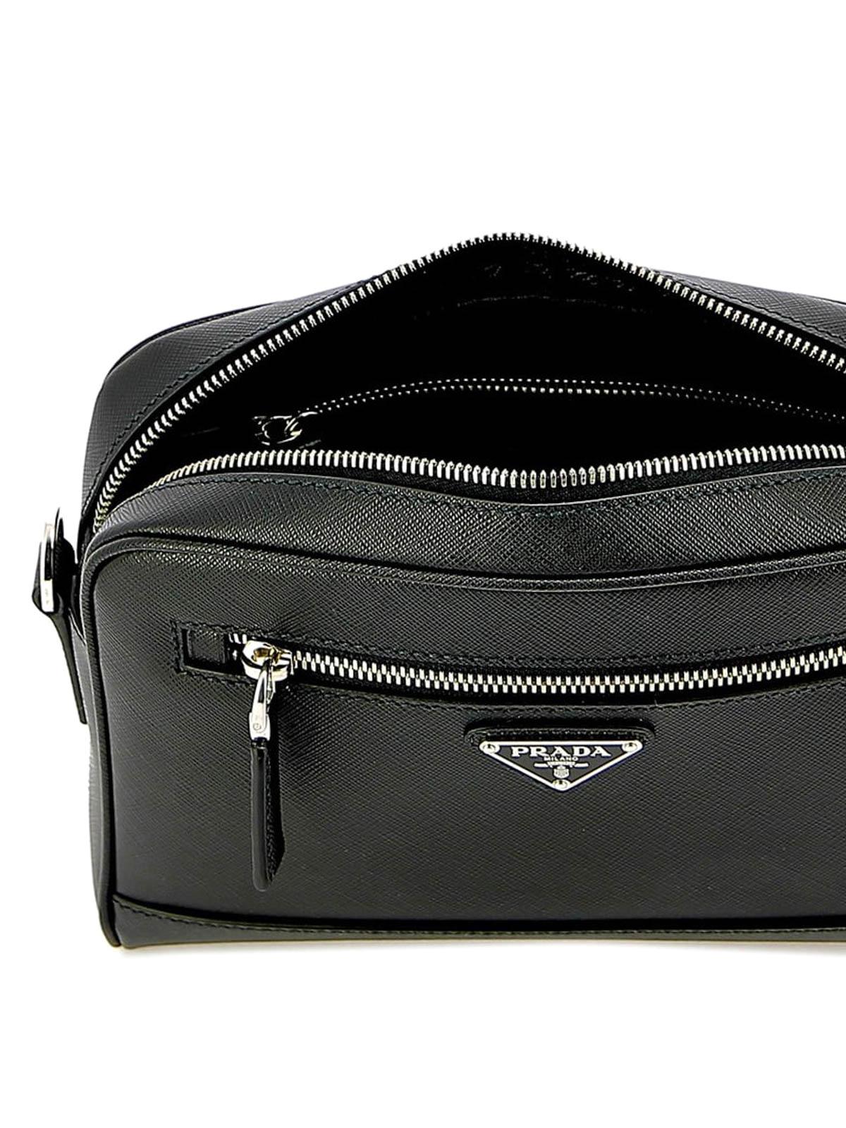 c69a014000f7db Prada - Black saffiano leather cross body bag - cross body bags ...