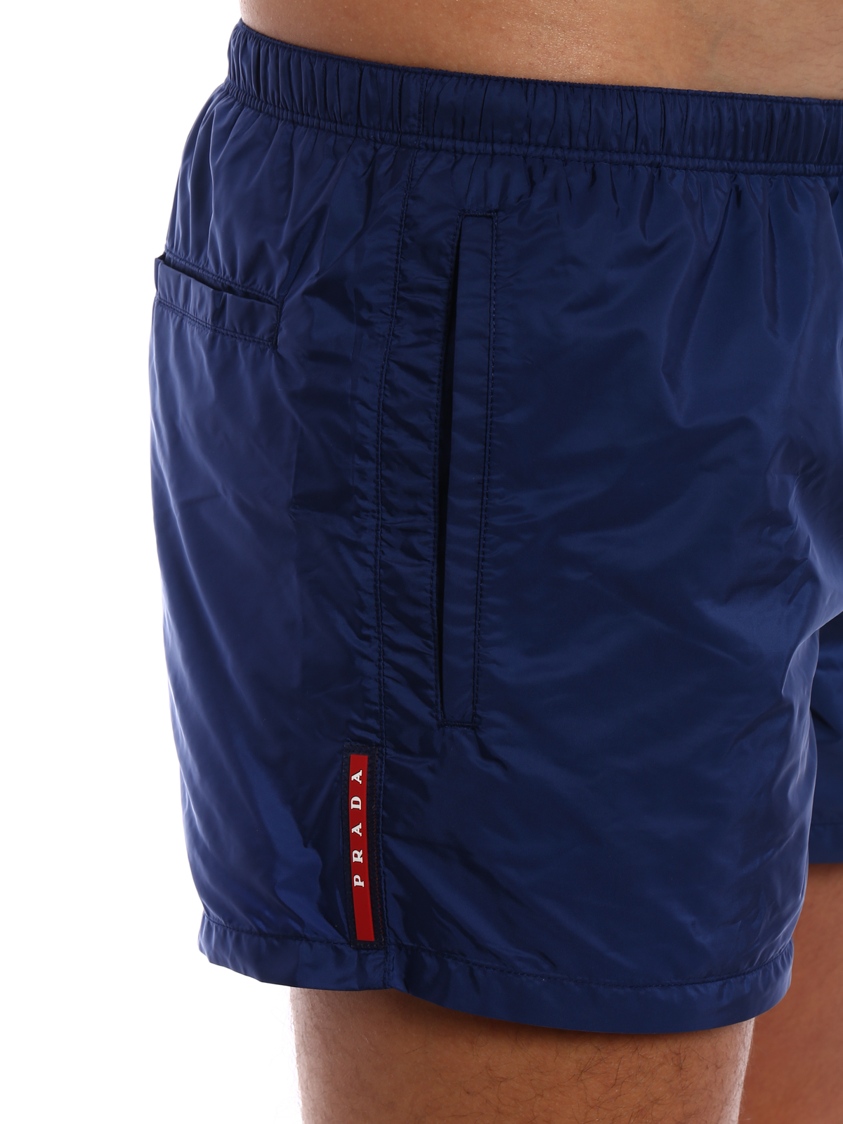 211b85aef9c Prada - Blue nylon swim shorts - Swim shorts & swimming trunks ...