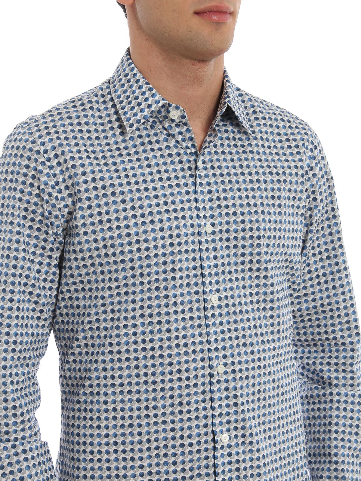 30ca473826 Prada - Circle print poplin shirt - shirts - UCM6081TC7216   iKRIX.com