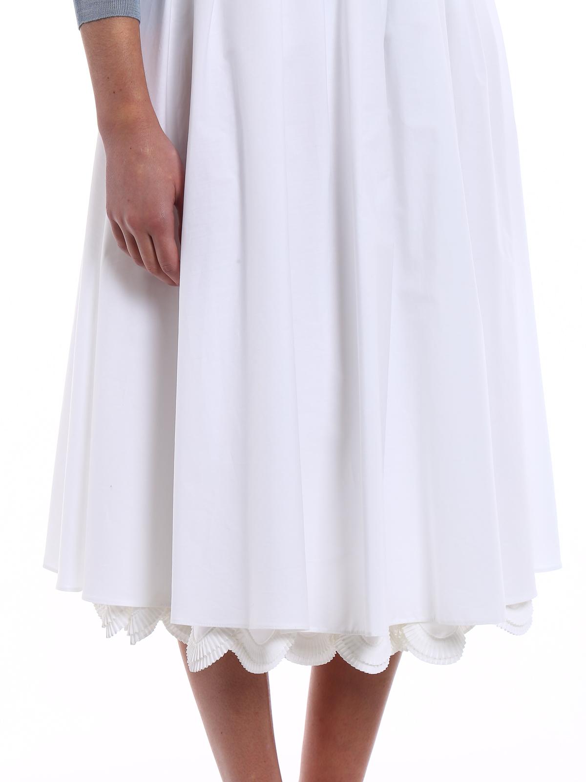 73f7e6845 Prada - Cowgirl white poplin midi skirt - Knee length skirts & Midi ...