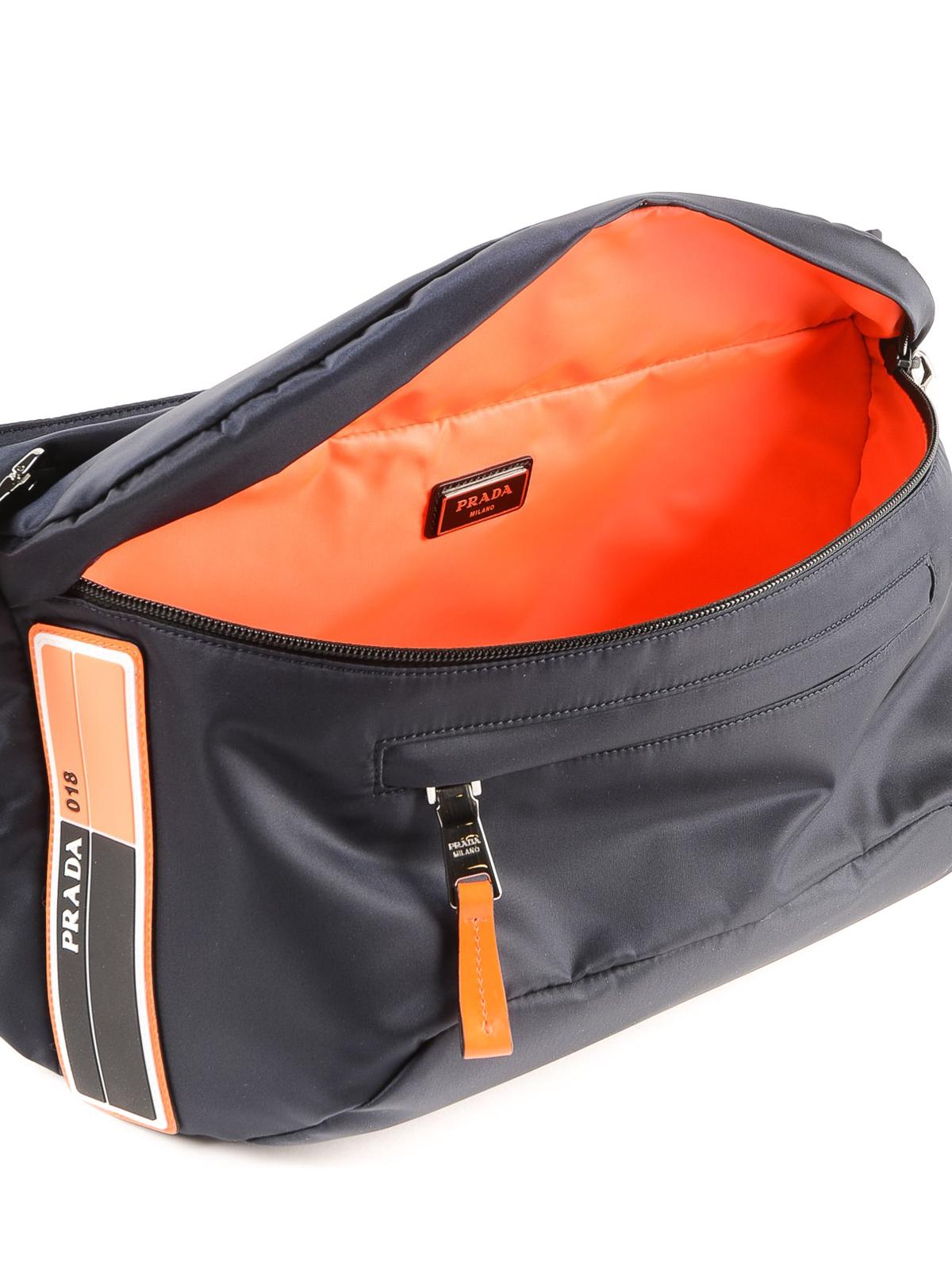1ce14d344c96b5 Prada - Dark blue nylon belt bag - belt bags - 2VL0042BTE XVT ...