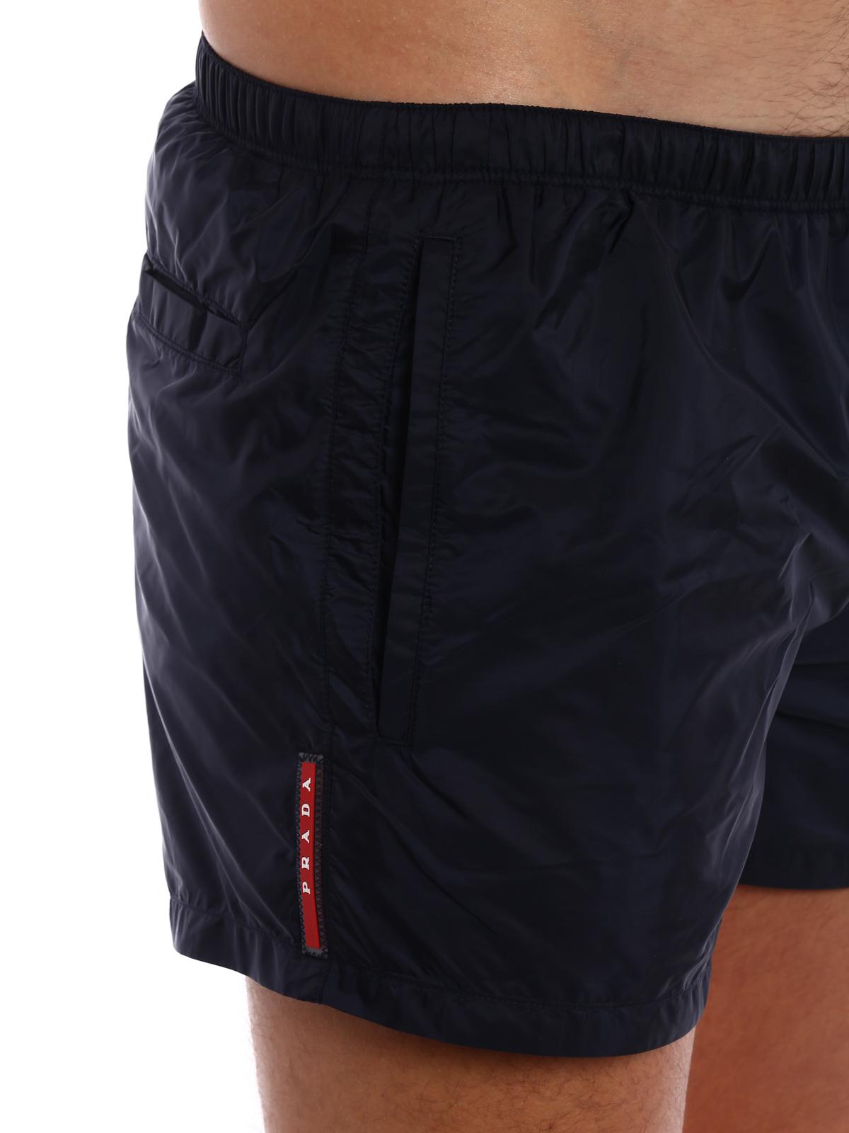 cdeb475273 Prada - Dark blue nylon swim shorts - Swim shorts & swimming trunks ...