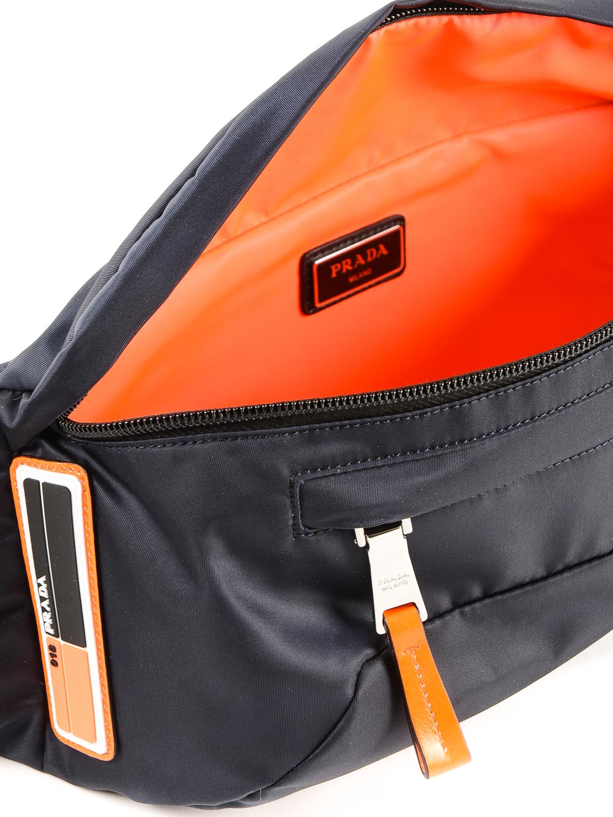 79cb6e83f0e2 Prada - Dark blue tech fabric belt bag - belt bags - 2VL0082BTE XVT