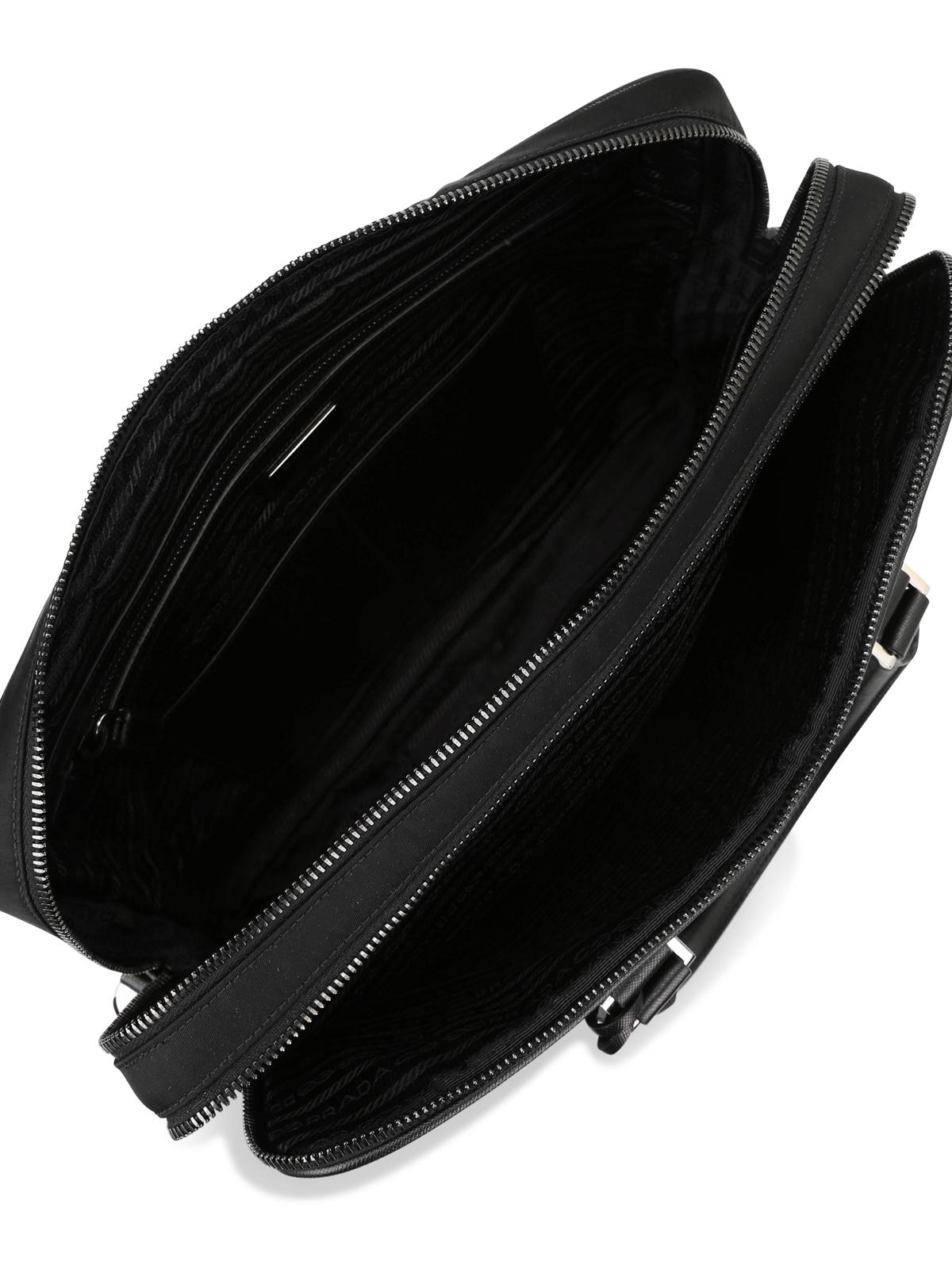 7a726004e1caba Prada - Double zip nylon briefcase - laptop bags & briefcases ...