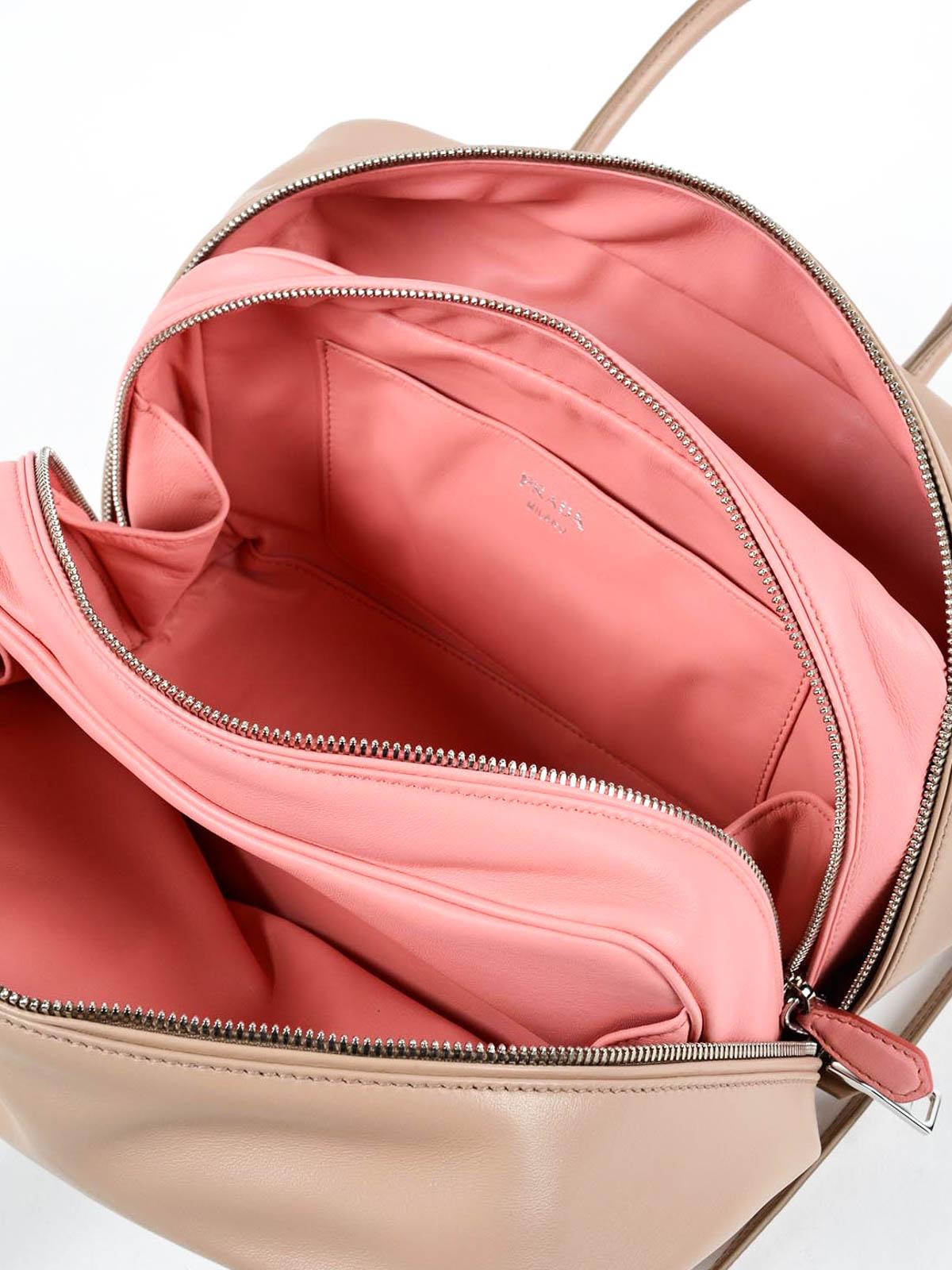 prada handbags price - Inside soft leather bag by Prada - bowling bags | iKRIX