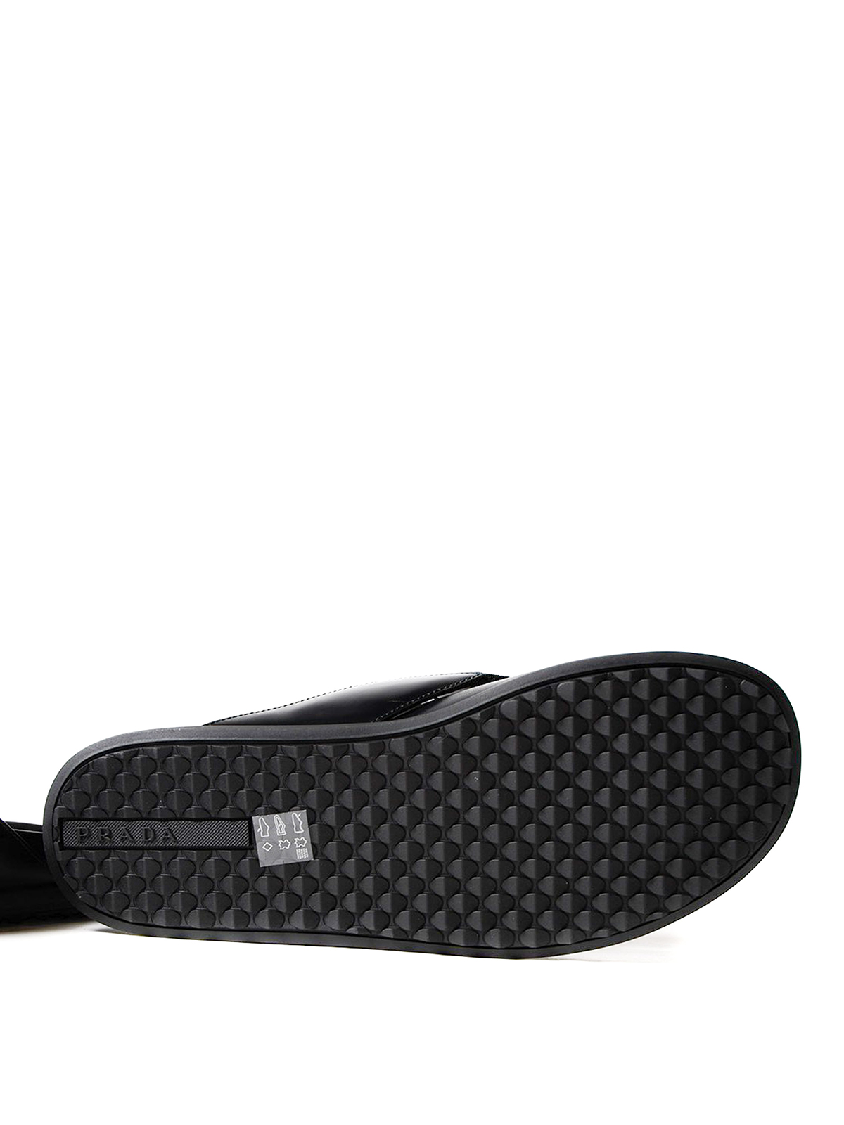 048284a84b0b Prada - Leather and fabric thong sandals - sandals - 4Y32081O2C002