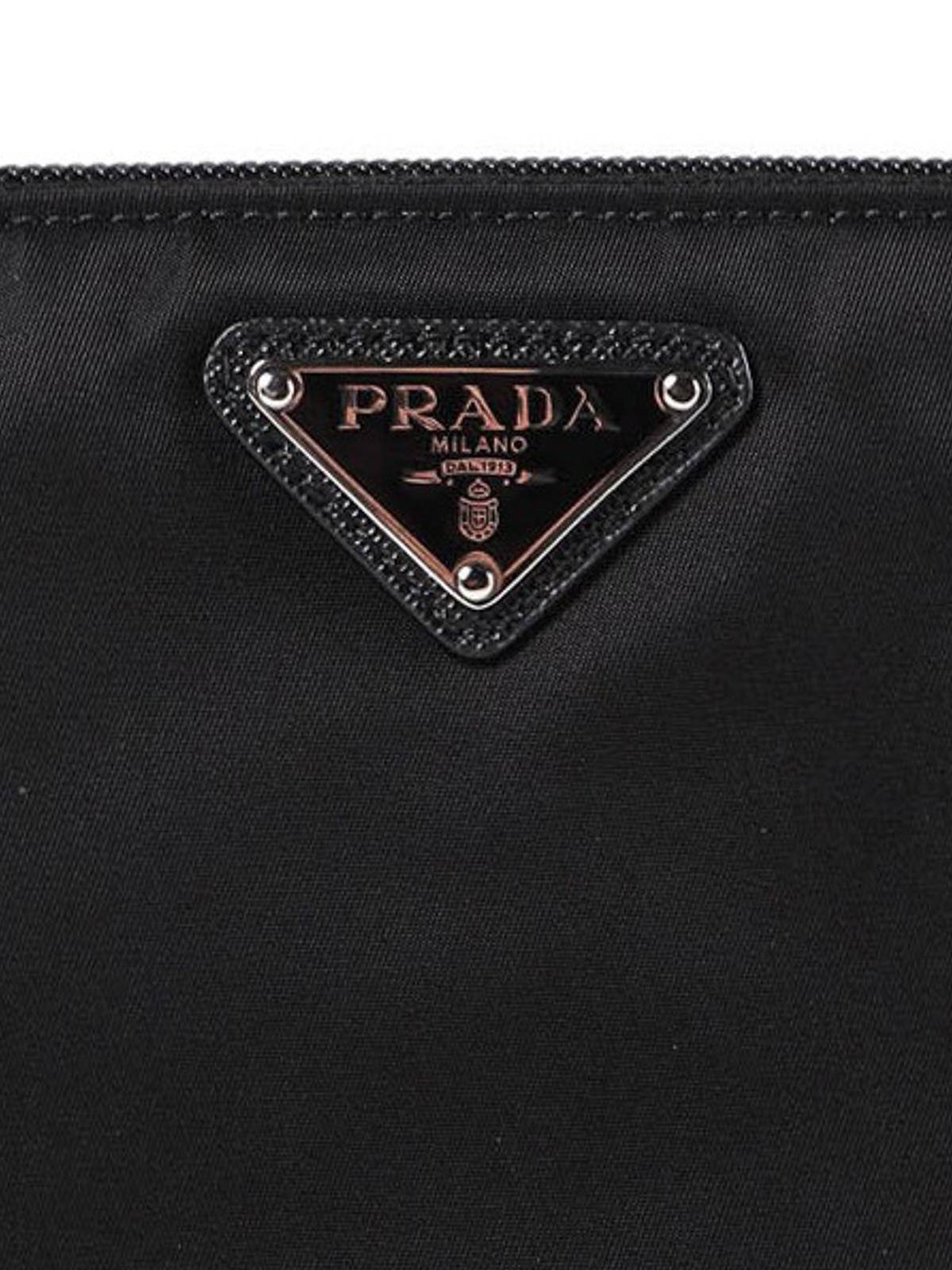 31dcc515111d Prada - Logo plaque nylon pouch - کلاچ - 2NA019064002 | iKRIX