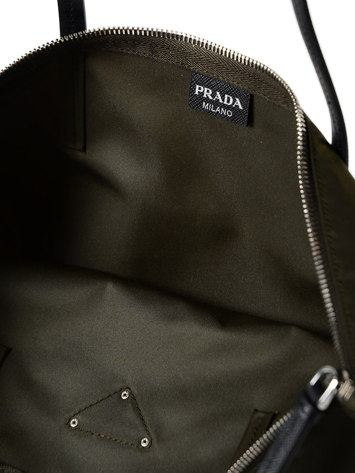 bottom of prada bag