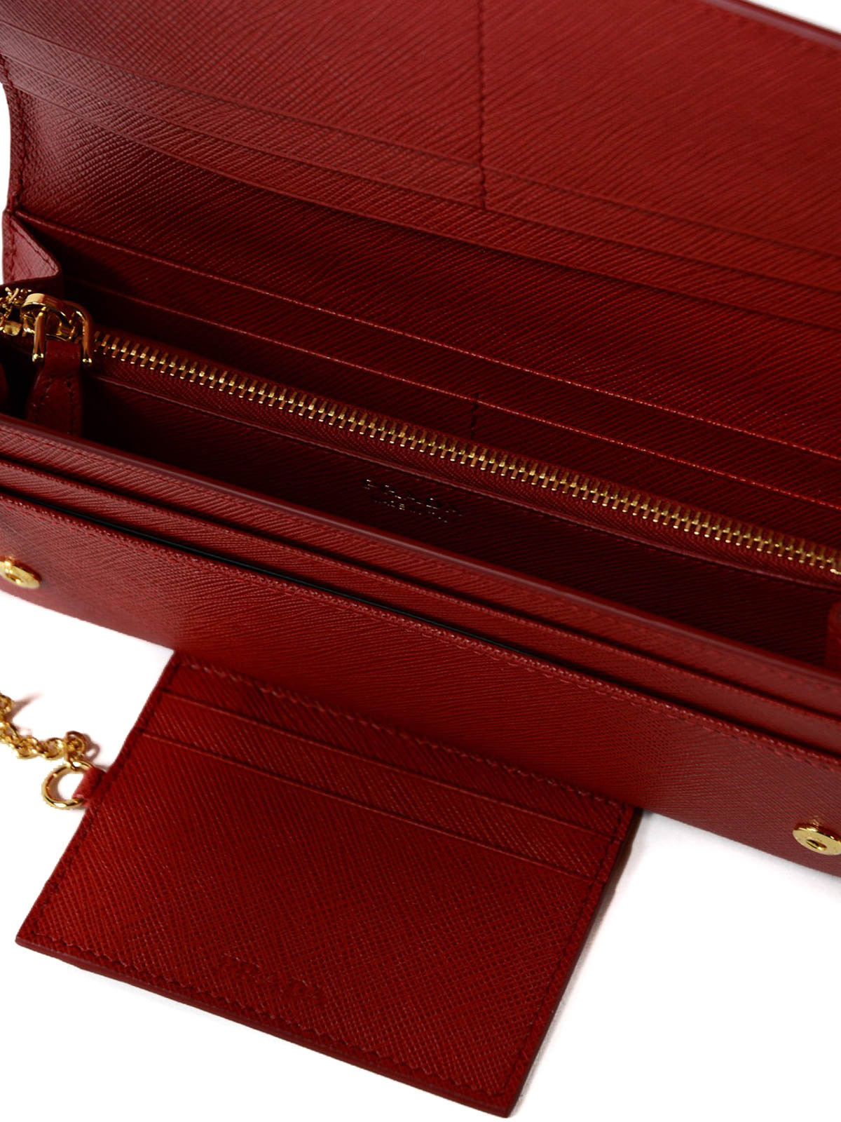 7a48cd2b9486 PRADA buy online Red saffiano continental wallet. PRADA: wallets & purses  ...