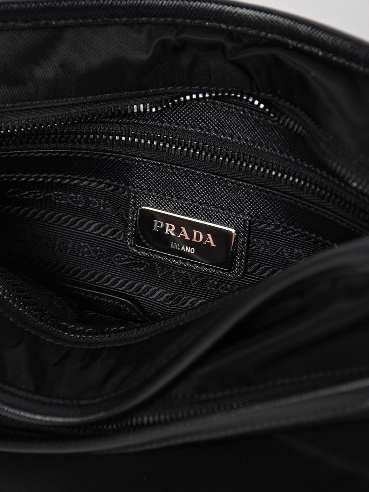 13e02a6e829c PRADA buy online Saffiano and nylon messenger bag · PRADA: shoulder bags ...