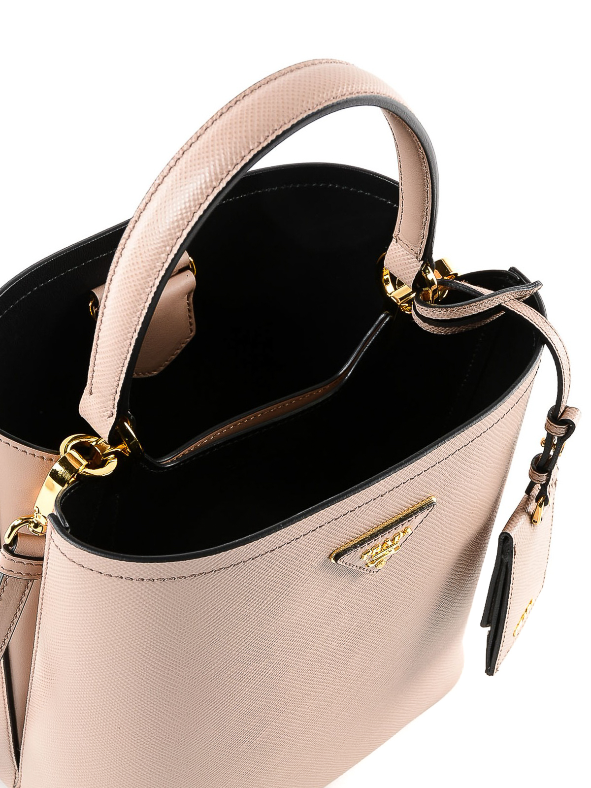 01a7f8854a2af Prada - Saffiano leather double bucket bag - Bucket bags ...