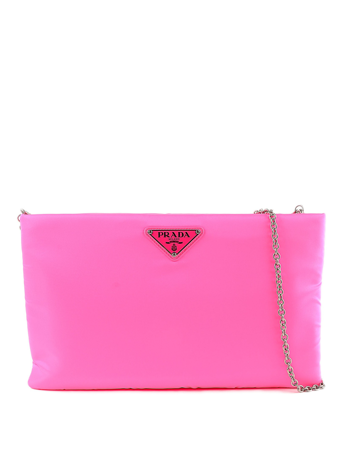 2c932d40f63d Prada - Pink medium quilted clutch - clutches - 1BF0812CCJF90 ...