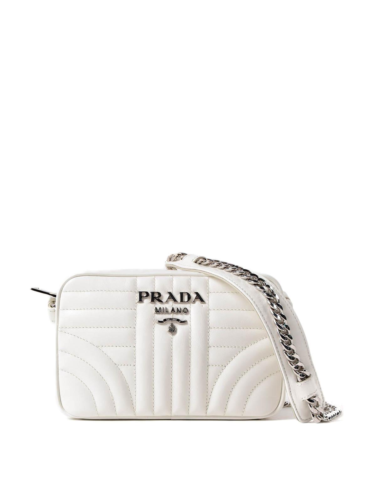 406932ef7f0d Prada - Diagramme soft white crossbody - cross body bags ...